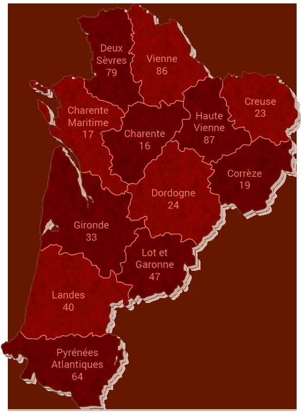 Carte Du Reseau Via Antiqua En Poitou Charentes